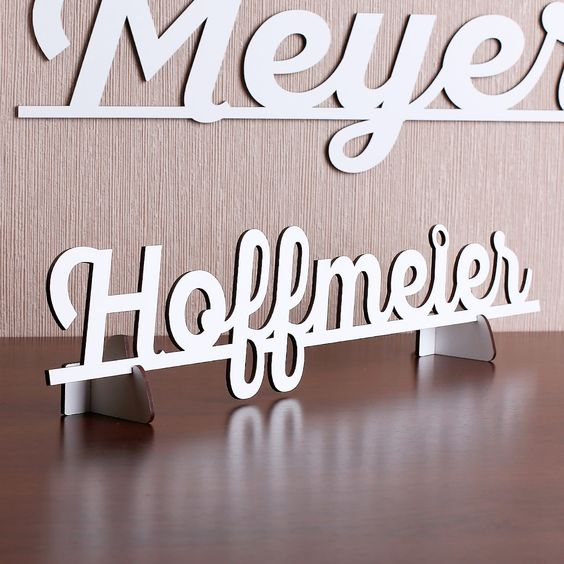 3D Schriftzug in weiß aus MDF zum Aufstellen oder Hinhängen   geschenke-online.de