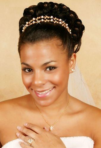 African American Black Bride Wedding Hair Natural