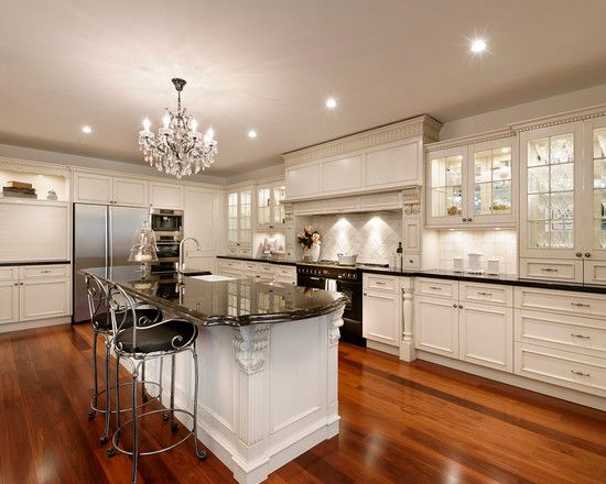 Black And White Kitchen French Contemporary Chick French Provincial Kitchens Design Ideas