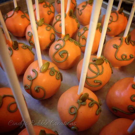 Pumpkin spice cake pop truffles