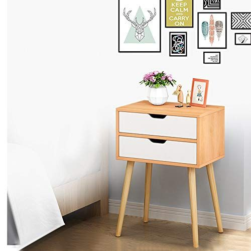 Kaicran Small Cute Nightstand Table Bedroom Night Stand With 2 Drawers Modern Design Bedroom Side Table Bedside Lockers Bedroom End Tables Side Tables Bedroom