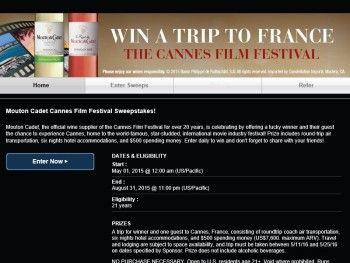 The Mouton Cadet Cannes Sweepstakes