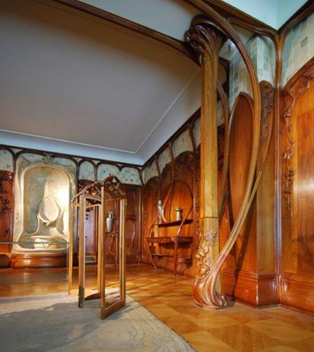 Art Nouveau interiors.
