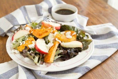 Roasted Sweet Potato and Apple Salad | Recipe | Roasted Sweet Potatoes ...