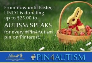 Partnership between LINDT and Autism Speaks. joewaters