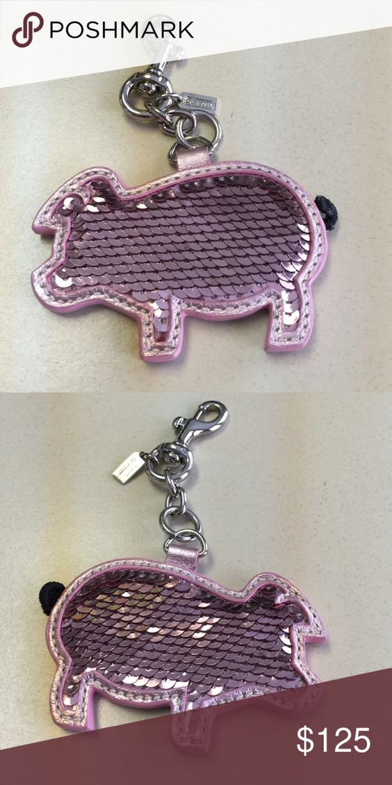 Coach key chain Double sided pig key chain Coach Accessories Key & Card Holders