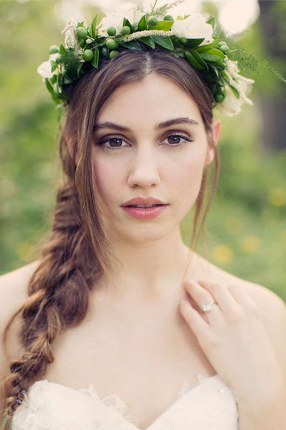50 Floral Crown Styles + Ideas | Flowers In Her Hair - Want That Wedding