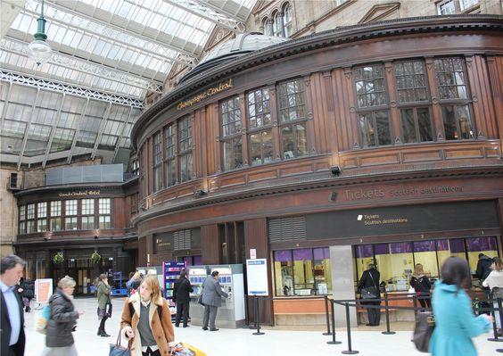 Train station in Glasgow, Scotland