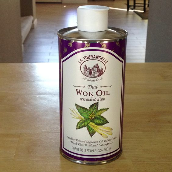 Thai basil and lemongrass infused wok oil. If you like Asian flavors and stir fry, this is a must!