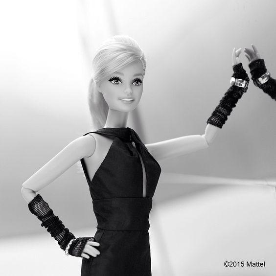 """Barbie Style   Black & White I.IV.  #barbiebw #barbie #barbiestyle"""