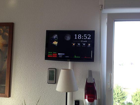 1 - Raspberry Pi Home Dash Screen RPi Pinterest Raspberry - badezimmerspiegel 3 t amp uuml rig
