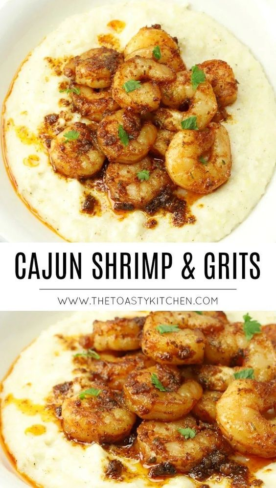 Cajun Shrimp and Grits - The Toasty Kitchen