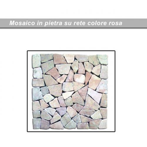Pavimento in ciottoli levigati da giardino per esterno rosa   cm 30x30 pz11: € 37,30 Costi di Spedizione:€ 13,21
