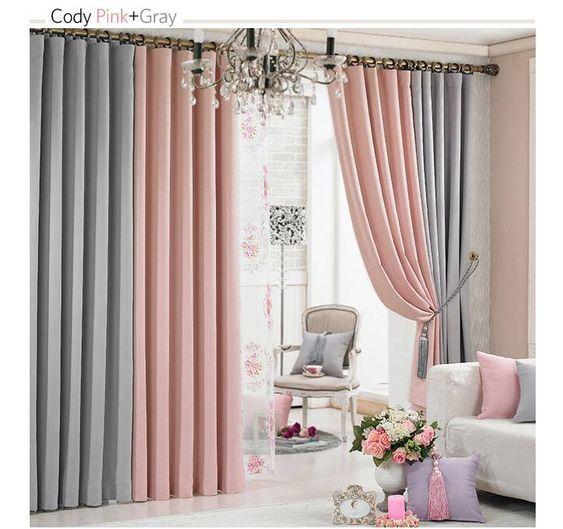 Rania Coordinated Blackout Curtains Keunchang Piece Made In Korea Made In Korea Shop Living Room Decor Curtains Curtains Living Room Pink Curtains