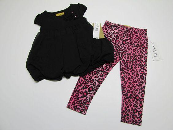 NWT Nicole Miller 2 Pc Outfit Tunic Top & Leggings Set Toddler Girls 3T $49 #NicoleMiller #DressyEveryday