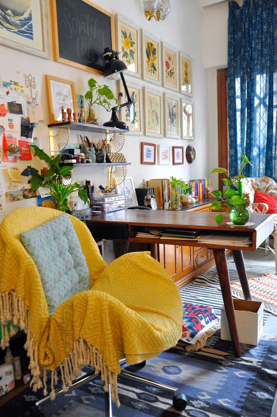 good clutter - maximalist office space