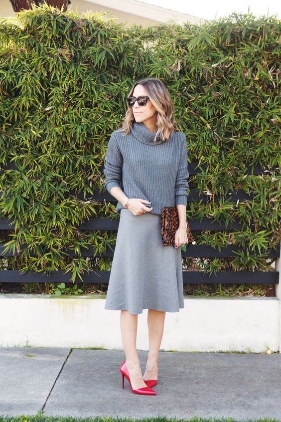 Gray On Gray = Damsel in dior | zara everything except clare viver clutch