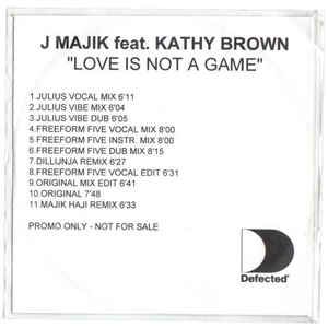 Kathy Brown – Love Is Not a Game (single cover art)
