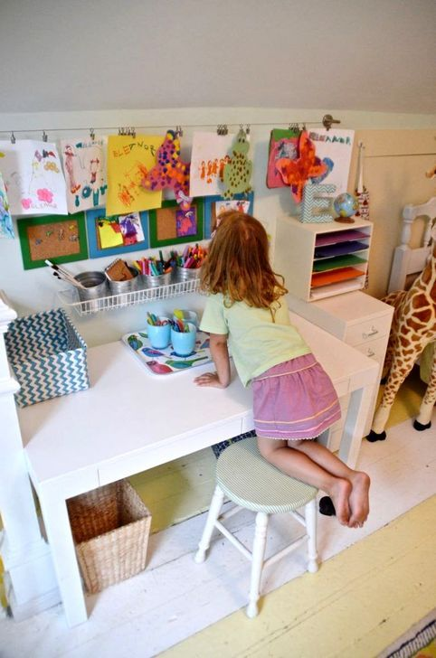 Stunning Desk Design Ideas For Kids Bedroom Kids Art Corner