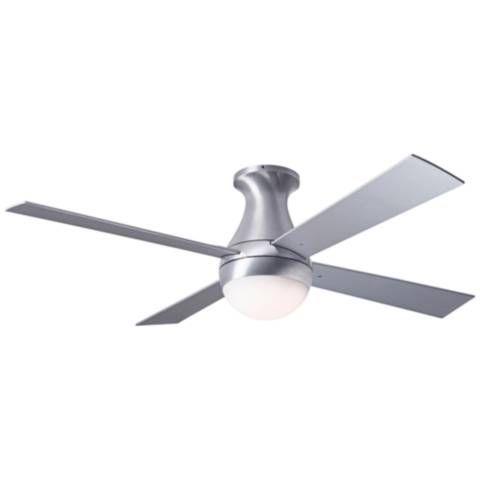 42 Modern Fan Ball Flush Aluminum Hugger Led Ceiling Fan 42w15