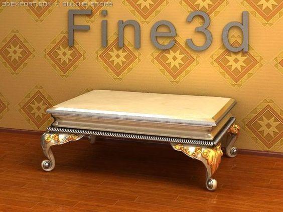 3D Model Antique08Bed078 c4d, obj, 3ds, fbx, ma, lwo 16661