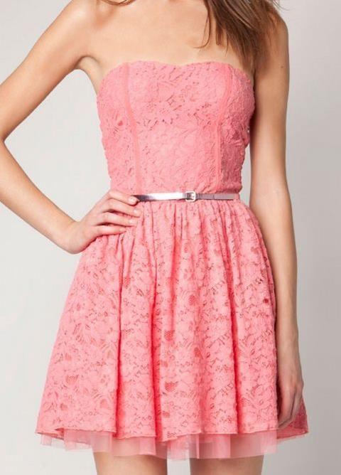 Pink Lace Dress:):