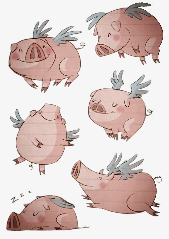 Flying Pig Flying Pigs Art Flying Pig Pig Cartoon