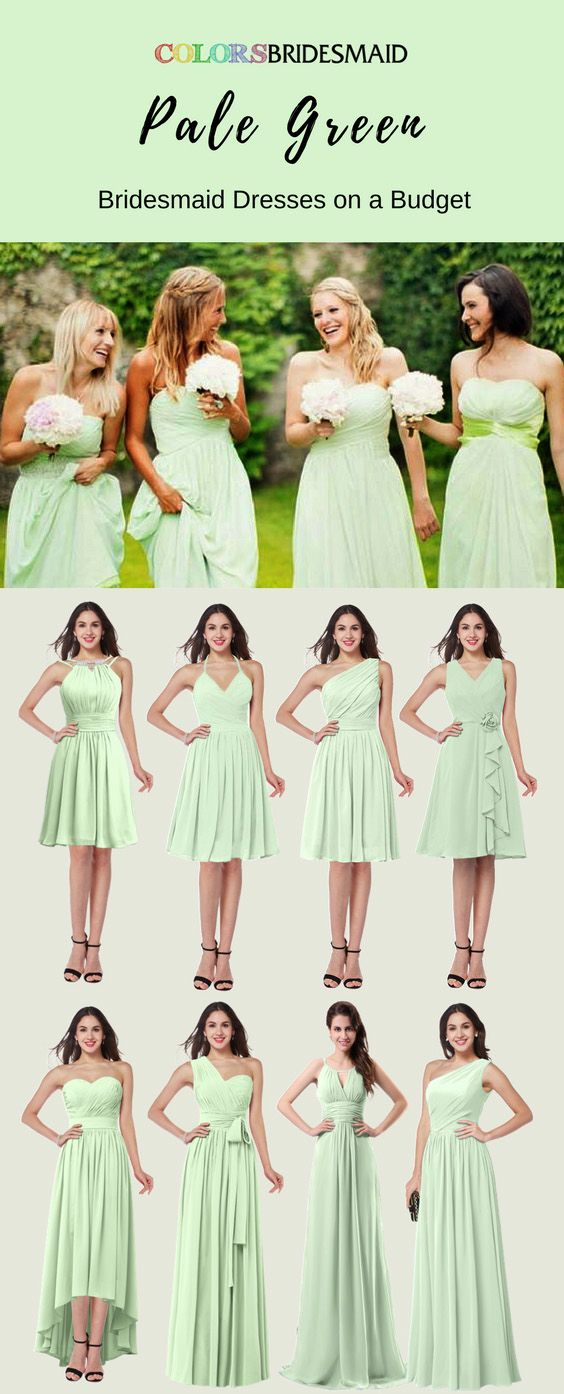 Pale Green Bridesmaid Dresses For A Summer Or Fall Wedding Sage Green Bridesmaid Dress Green Bridesmaid Dresses Green Bridesmaid Dresses Short