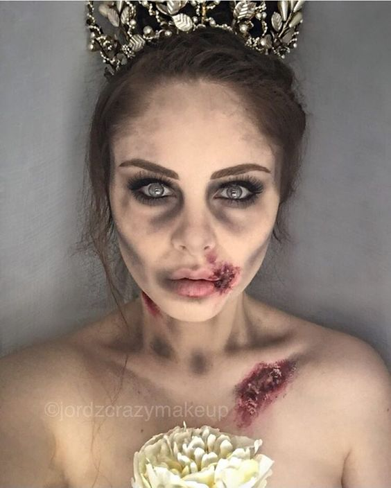 Corpse Bride Makeup- I like this more than caking myself in face paint to try to look like the Tim Burton character