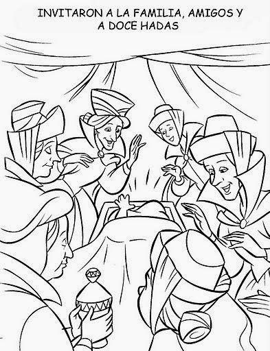 Cuentos Infantiles Dibujos De La Bella Durmiente Para Colorear Todo El Cuento Con Imagenes Secuencia Temporal Bella Durmiente Dibujos Cuento De Hadas