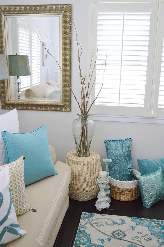 Coastal Cottage Home Decorating | Aqua White: