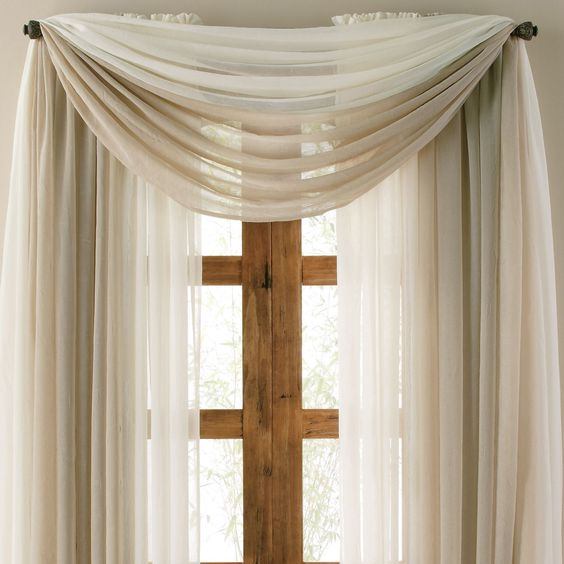 Lisette sheer scarf valance courtains - Jcpenney bathroom window curtains ...