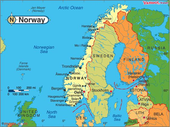 Norway Map Kids Study SwedenHollandDenmark Finland Norway - Map of norway