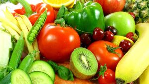 Fruits and vegetables in bodybuilding