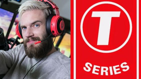T-Series went ahead of Pewdiepie by a few subs on Monday