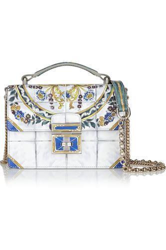 Rosalita mini printed patent-leather shoulder bag #shoulderbag #women #covetme #dolce&gabbana
