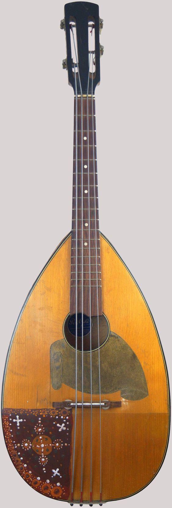 1930s 4 string flat back german Mandola