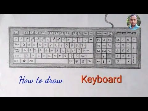 How To Draw Computer Keyboard Step By Step So Easy Youtube In 2021 Keyboard Computer Computer Keyboard