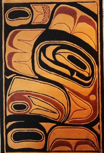 Jordans First Nations Rug Haida Tlingit Native Art