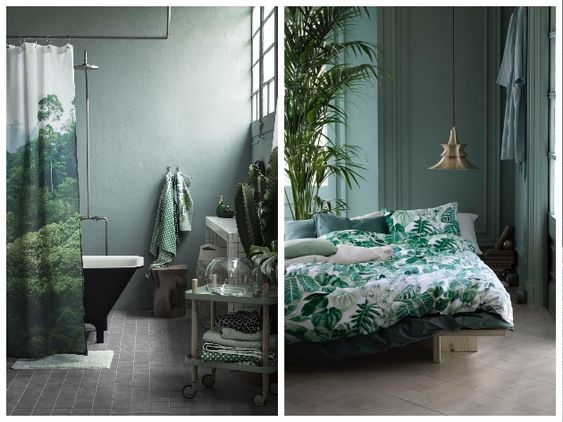 tendance jungle nature luxuriante et cama eu de verts dans la d co maison urbain et chic. Black Bedroom Furniture Sets. Home Design Ideas
