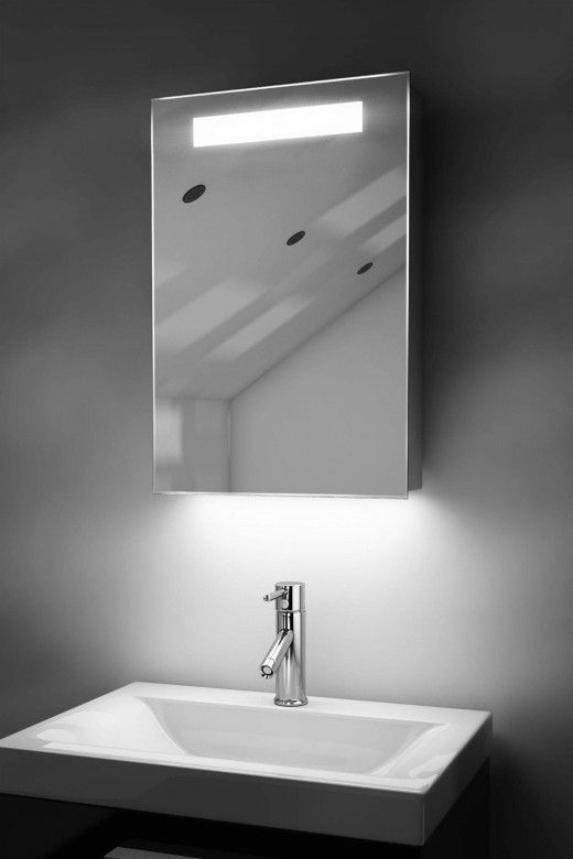 Olympia Led Bathroom Cabinet With Ambient Under Lighting Mirror Cabinets Bathroom Mirror Cabinet Bathroom Cabinets