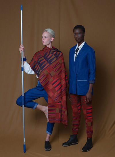 CIRCUS of FASHION presents Fashion / Mode from BERLIN, here:  Sa Lone Big Plaid + Trousers