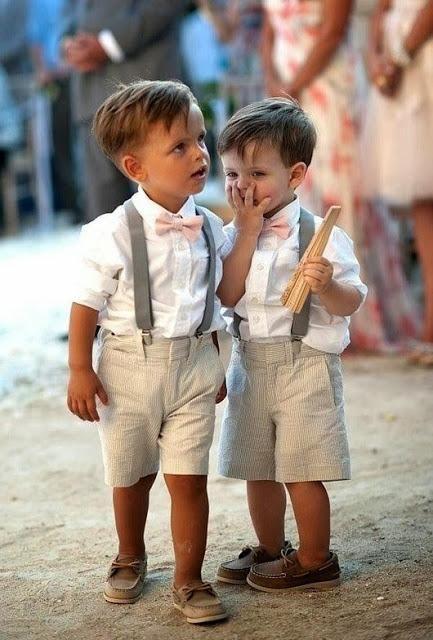 Como vestir a los niños pajes en una boda