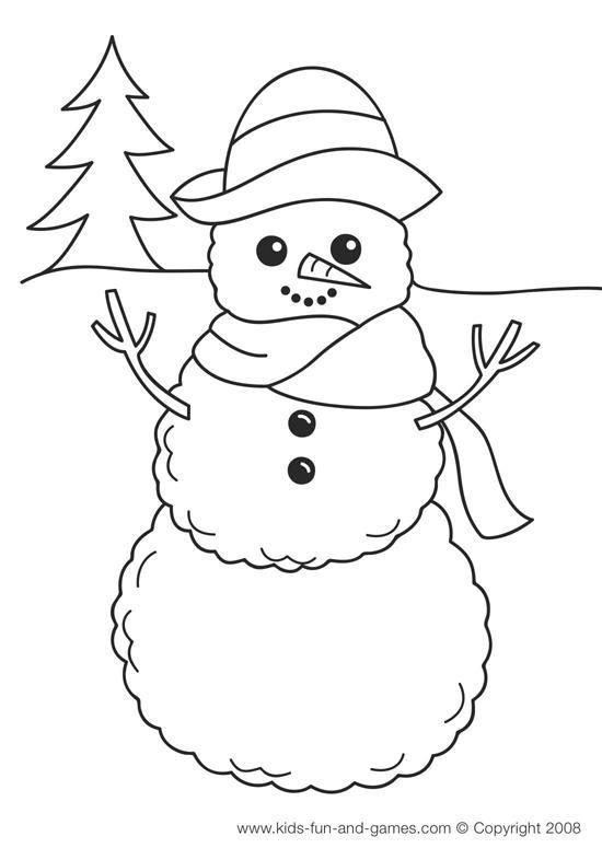 Nice Preschool Winter Coloring Pages 2020 Hayvan Boyama Sayfalari Kardan Adam Boyama Sayfalari