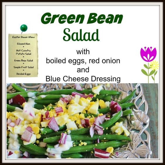 Green Bean Salad | Recipe | Green Beans, Boiled Egg and Blue Cheese