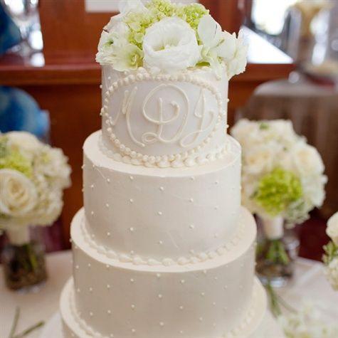 monogram wedding cake buttercream make those roses on top red and i am good to go wedding. Black Bedroom Furniture Sets. Home Design Ideas