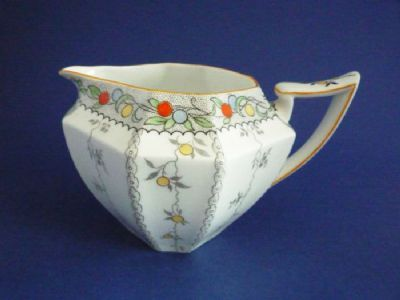 Shelley Queen Anne 'Fruit Border' Pattern 11563 Milk Jug c1927