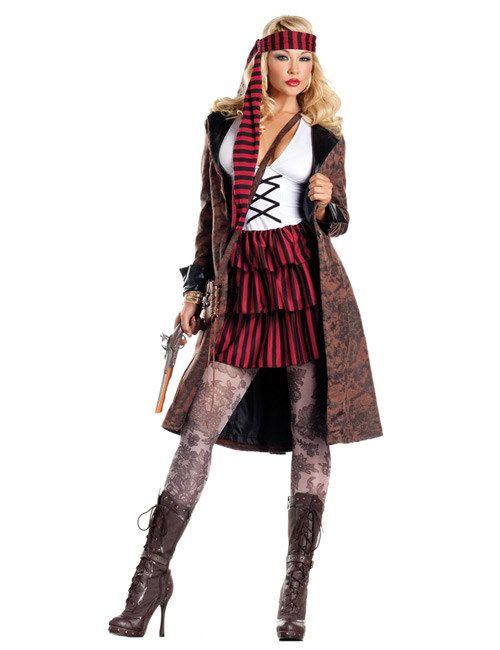 Karibik Piratin Kostüm rot-schwarz, aus unserer Kategorie Piratenkostüme. Diese Piratin liebt die Gewässer der Karibik über alles. Seit Jahren ist das kristallklare Meer ihr Jagdgrund, in dem sie immer wieder fette Beute macht. Ein fantastisches Kostüm für Karneval und Piraten Mottopartys. #Faschingskostüm #Damenkostüm