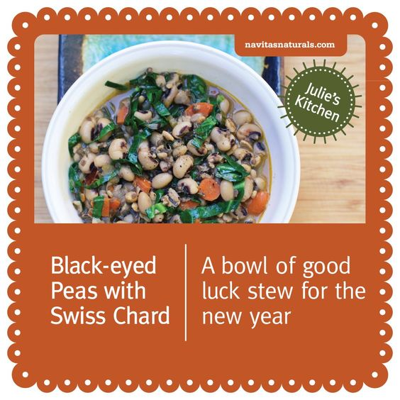 It's long been said that starting the new year with a dish of black-eyed peas is a recipe for good luck. Chia seeds make this recipe extra lucky by adding plenty of omega fats, fiber and key minerals. All of us at Navitas Naturals wish you a happy and healthy 2013!