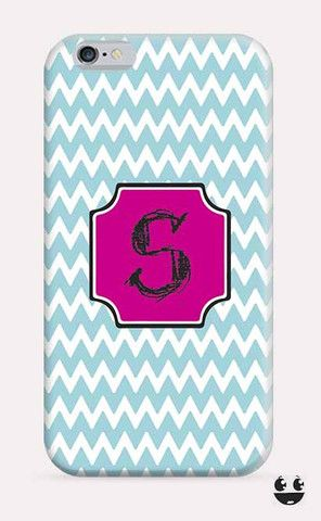 iPhone Case iPhone 4 Case & iPhone 4S, Case iphone 5 Case & iPhone 5S Case, iPhone 5C Case, iPhone 6 Case & iPhone 6, Plus  Blue Chevron Pink Monogram